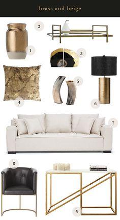 MadeByGirl: Design: Brass + Beige