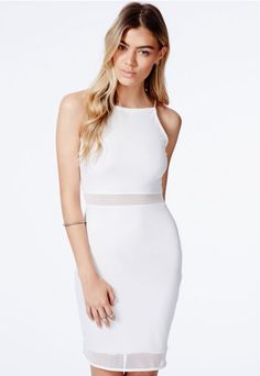 Robinka Fishnet Panel Strappy Dress - Dresses - Mini Dresses - Missguided