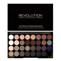 Makeup Revolution 32 Eye Palette Affirmation. Alright this palette looks beautiful. But...it's so patchy and some of the colors don't even show up! Also they crease even with primer! So disappointing