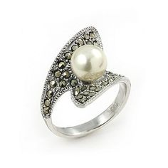 Pave Set Round Marcasite And Pearl Ring Shop4Silver, http://www.amazon.com/dp/B003CTR6JO/ref=cm_sw_r_pi_dp_3nXyqb1PTBWP5