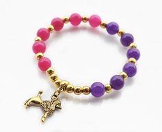 Bransoletka z kamieniami i zawieszką Jewelry Collection, Beaded Bracelets, Autumn, Jewellery, Fashion, Moda, Fall, Jewels, Fashion Styles