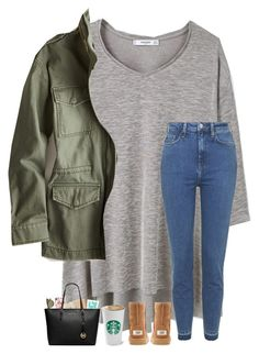 """Day 4- Lunch With Friends"" by lovemyariana ❤ liked on Polyvore featuring MANGO, Topshop, American Eagle Outfitters, UGG Australia, Casetify, Kate Spade, Ray-Ban, Miss Selfridge and Michael Kors"