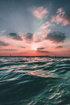 Iphone Wallpaper - Sunset Sea Sky Ocean Summer Green Water Nature - Wallpaper World