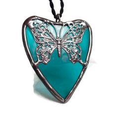 Stained Glass Butterfly Jewelry Handmade Jewelry by coalchild