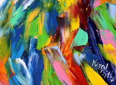 Original oil painting Angel and Butterflies by Karensfineart