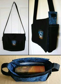 Newest Ravenclaw book bag. This is the new fabric (swirly hand-dyed batik) which I love! I'm really sorry to any Ravenclaws who want this, but it's not for sell. Harry Potter Rucksack, Sac Harry Potter, Theme Harry Potter, Harry Potter Merchandise, Harry Potter Outfits, Ravenclaw, Harry Potter Accesorios, See Tattoo, Geeks