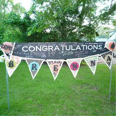 Grad Party Yard Sign [ ItsMyMitzvah.com ] #graduation #celebrate #personalized #style