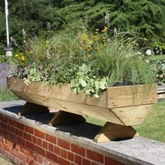 Micro Manger Trough Planter is a great option for fruit and veg growing without much outdoor space Plant Troughs, Trough Planters, Wooden Garden Planters, Raised Planter Beds, Raised Garden Beds, Raised Beds, Flower Boxes, Flowers, Veg Garden