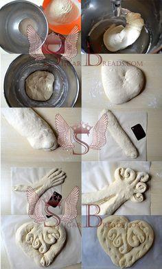 DSC_0004 - a Christmas Veggie Tray, Pizza Pastry, Bread Shaping, Bread Art, Braided Bread, Bread And Pastries, No Bake Treats, Bread Rolls, Sweet Bread