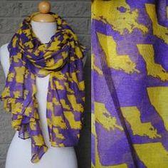 LSU state love scarf