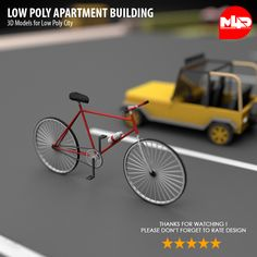 Buy Low Poly Apartment Building by on Low Poly Apartment Building Pleasant color combination and scale scene attracts attention. Ac Fan, Modular Structure, Tree Table, Fire Escape, Maxon Cinema 4d, Booth Design, Water Tank, Low Poly, Building