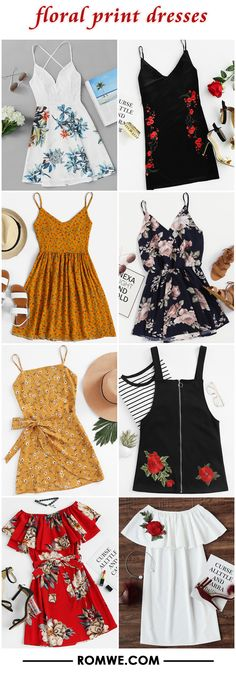 floral print dresses from romwe.com