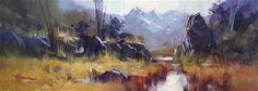 "Daily Paintworks - ""Towards the Humboldt Range"" - Original Fine Art for Sale - © Richard Robinson"