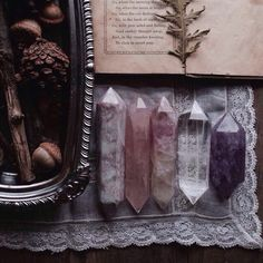 Magic crystals spells gems HERBS Paganism amethyst magick pine wiccan Stones pagan wicca Gemstones herbal book of shadows Crystal Magic, Crystal Healing, Crystal Altar, Crystal Ship, Crystals And Gemstones, Stones And Crystals, Gem Stones, Wicca Crystals, Wiccan