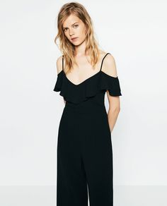 Image 2 of CROPPED JUMPSUIT WITH STRAPS from Zara