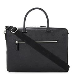 MCM Embossed Logo Leather Briefcase. #mcm #bags #shoulder bags #leather #