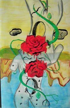 """""""-Réalisez une production en vous inspirant d'un artiste et de ses oeuvres"""" Pastels gras"""