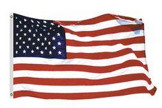 Sun-Glo Nylon American Flag Made In The USA