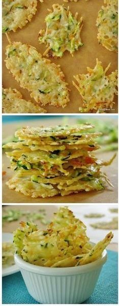 Parmesan Cheese Crisps Laced with Zucchini & Carrots - Cheese Chips - Ideas of Cheese Chips Low Carb Recipes, Cooking Recipes, Healthy Recipes, Recipes With Zucchini, Think Food, I Love Food, Parmesan Cheese Crisps, My Burger, Appetizers