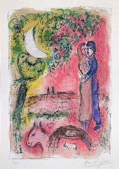 Marc Chagall - -Aurore à Saint-Paul' - (Dawn at Saint-Paul) 1968.