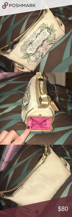 REAL COACH NEVER WORN! NEVER WORN. Excellent condition! Has pockets on both sides. Coach Bags Mini Bags