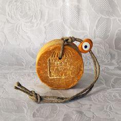 Savon bittim orange, à l'huile de pistache sauvage, naturel et de fabrication artisanale