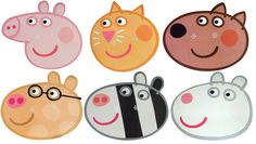 PEPPA PIG - FUN PARTY FACE MASK - 6 TO CHOOSE FROM - LICENSED PRODUCT
