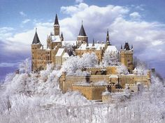 Winter Landscape Hohenzollern Castle Stuttgart #Germany #travel #Europe http://www.iconiceurope.com/