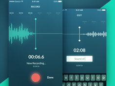 Sound Record App by Sergey Jani #Design Popular #Dribbble #shots
