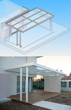 Modern Pergola, Outdoor Pergola, Outdoor Areas, Outdoor Rooms, Rooftop Terrace Design, Small Terrace, Pergola Canopy, Gazebo, Interior Ceiling Design