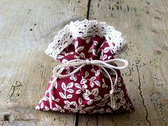 Gift Bag  the Hidden Garden  Drawstring Bag  Pouch  by CottnLove