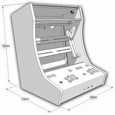 Plans for LCD MAME Bartop with Sliding Keyboard and Marquee  DIY  Arcade cabinet plans Arcade Arcade bartop