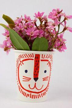 paper cup flower hea