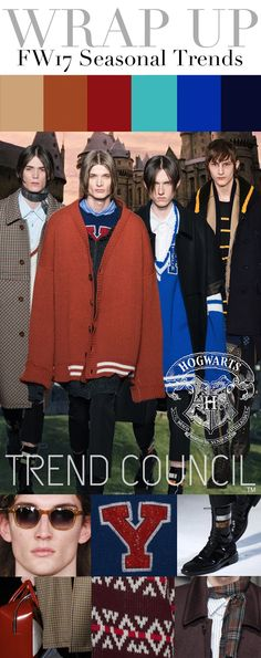 TRENDS // TREND COUNCIL - HOGWARTS . WOMEN'S AND MEN'S FW 2017 | FASHION…