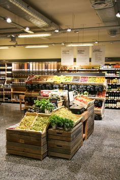 Supermarket Design | Grocery Areas | Retail Design | Shop Interiors | L'agenda de la semaine : Concept Store Bio Naturalia