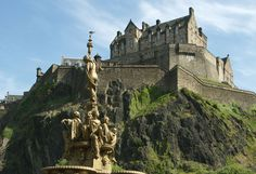 Reminded me of the castle in Beauty and the Beast --Edinburgh Castle, Scotland