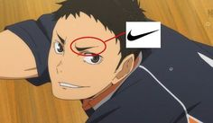 Haikyuu is secretly sponsored by Nike JUST DO IT #fuckanotherholeoftrash