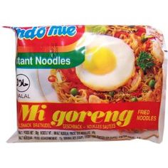 Indo Mie Mi Goreng dried fried noodles - not your average supermarket ramen, these come with five different flavor packets. The flavor can't compare. Snack Recipes, Snacks, Ramen, Noodles, Chips, Corner, Packing, Favorite Recipes, Amazon