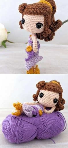 The Best Lovely Crochet Doll Amigurumi Ideas. The finished doll is about 15cm tall and 6cm wide, which makes it perfect to take with you everywhere! I'm sure your kiddos would really love a Disney doll collection. What's best, these dolls are perfectly safe, as long as you replace plastic elements for embroidery.  #freecrochetpattern #amigurumi #toy Crochet Toys, Free Crochet, Doll Patterns, Crochet Patterns, Disney Dolls, Amigurumi Doll, Embroidery, Hats, How To Make