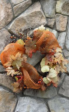 Fall mesh wreath...