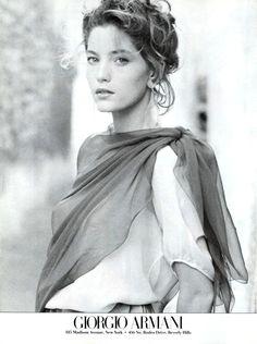 Lucie de la Falaise, 1989 Vogue USA, March 1989 Photographed by Aldo Fallai Giorgio Armani Spring & Summer 1989