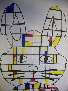 Mondrian. Artsonia Art Museum :: Artwork by Desirea27