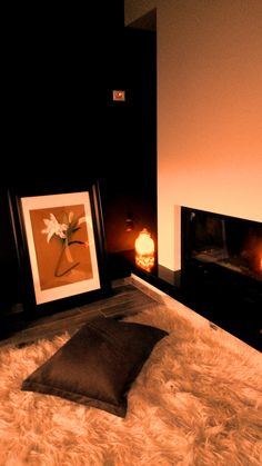 view of the fireplace _ black and white _ frame design_