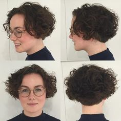 60 Most Delightful Short Wavy Hairstyles Short Curly Brown Bob Short Permed Hair, Short Brown Hair, Short Curly Bob, Haircuts For Curly Hair, Curly Bob Hairstyles, Short Hair Cuts, Easy Hairstyles, Curly Hair Styles, Undercut Hairstyle