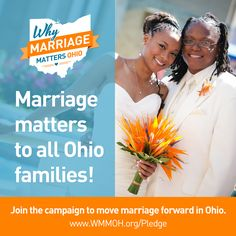Sign the pledge now if you think all loving couples in Ohio deserve the freedom to marry.