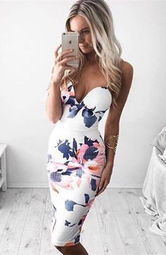 spaghetti straps dresses, white dresses, bodycon dresses, floral dresses, printed dresses, sexy dresses, knee length dresses, summer outfits