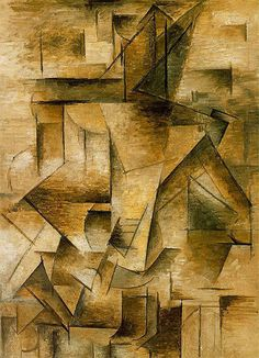 Pablo Picasso, Le guitarist, 1910 An example of Analytic Cubism. on ArtStack #pablo-picasso #art