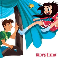 Goes to bed with a frog, wakes up with a prince. Wouldn't you be surprised? The Frog Prince, illustrated by Michelle Ouellette (http://michellecandraw.com) for Storytime Issue 21 ~ STORYTIMEMAGAZINE.COM