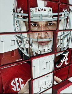 2013 Alabama Football Media Guide Covers by Buddy Overstreet, via Behance #Alabama #RollTide #BuiltByBama #Bama #BamaNation #CrimsonTide #RTR #Tide