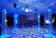 estructura dj, sonido iluminacion truss, tramos, decoracion